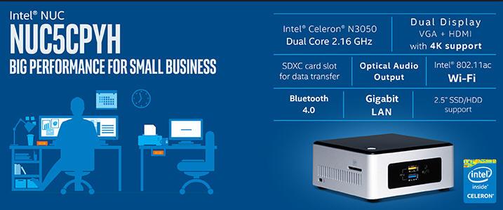 Intel Nuc5cpyh Mini Pc With Intel Cleron Processor Price
