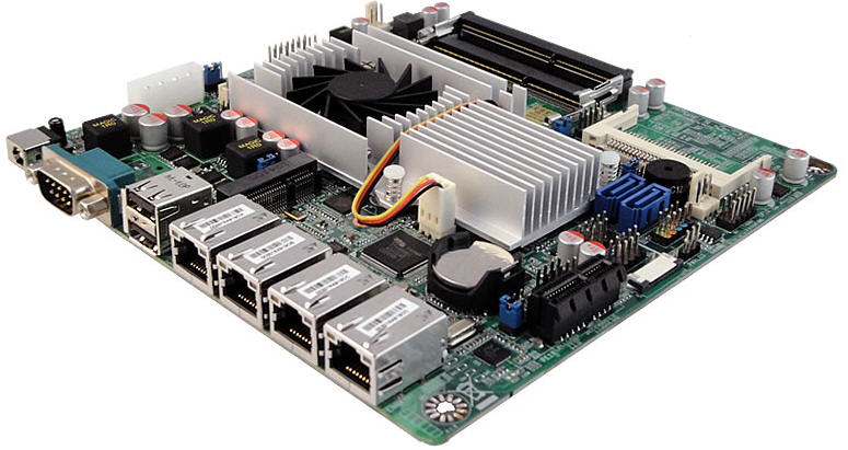 4 LAN motherboard thin mini-itx Fanless
